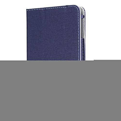 Funda Protectora de Cuero Artificial para Te-clast P80X Tabletas, P80X Estuche Blando Anti-caída con Soporte de Múltiples Ángulos Ajustable de Escritorio para Tabletas, Accesorios para Tablet(Azul)