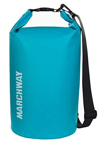 MARCHWAY Floating Waterproof Dry Bag 5L/10L/20L/30L/40L, Roll Top Sack Keeps Gear Dry for Kayaking,...