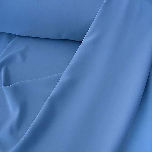 TOLKO Modestoff | Dekostoff universal Stoff zum Nähen und Dekorieren | Blickdicht, knitterarm | Meterware (Basalt-Blau)