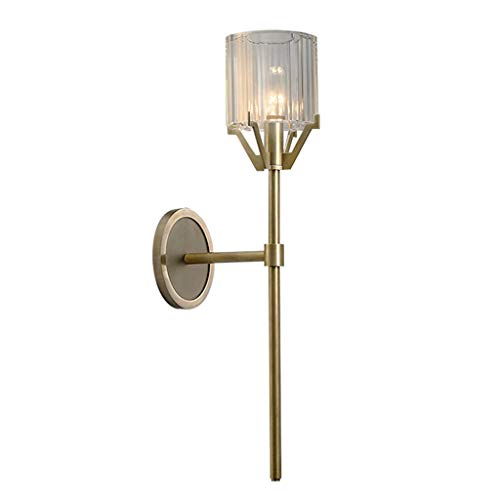 Luminaires & Eclairage / Luminaires intérieur / Ap Lampe de salon en cristal de cuivre moderne lampe de salon simple lampe de chevet miroir de salle de bains avant chambre lampe de chevet A+