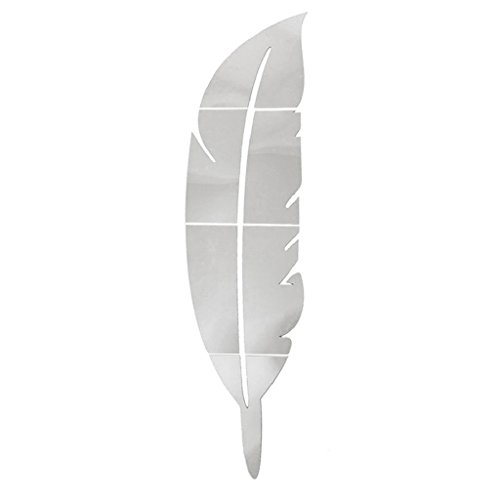 Lunji Miroir Sticker Mural Amovible, Acrylique Autocollant Miroir - Mural Deco