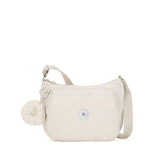 Kipling Damen CAI Umhängetasche, Weiß (Dazz White), 28x22x14 cm