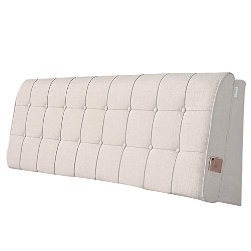 Idong nachtkussen van stof, groot leeskussen, voor bank, nek, wasbaar, Idong 200x60cm No Bed Plates -A