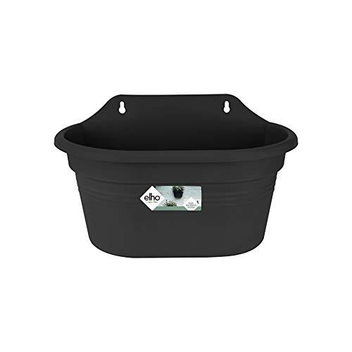 Elho Green Basics Wandampel 30 - Übertopf - Lebhaft Schwarz - Draußen & Balkon - L 15.9 x W 29.5 x H 17.2 cm