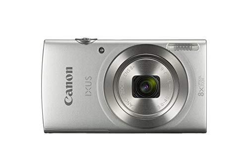 Canon IXUS 185 digitale camera (20 MP, 8X optische zoom, 6,8 cm (2,7 inch) LCD-display, HD movies), Single, zilver