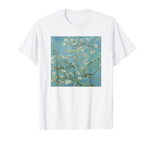 Van Gogh Shirt, Almond Blossom, White T-Shirt Gift