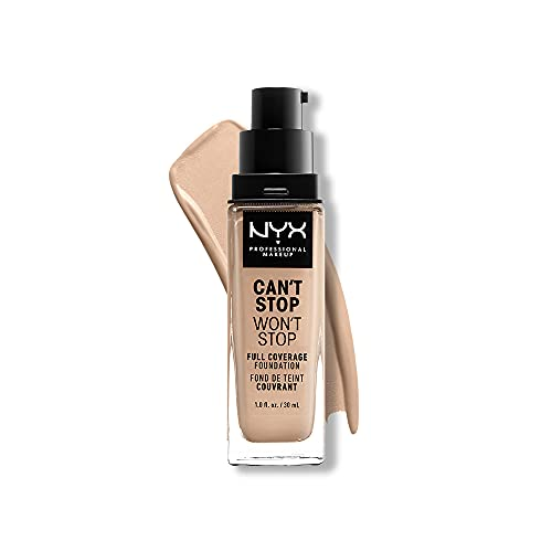 NYX PROFESSIONAL MAKEUP Can't Stop Won't Stop Foundation, 24h Full Coverage Matte Finish - Light Ivory