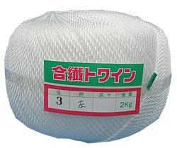 PEロープ白色3mm2kg巻(約400m)