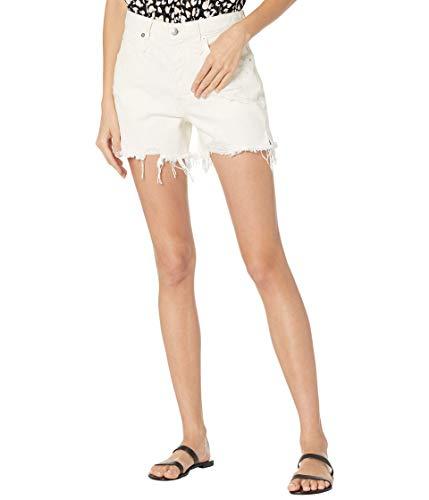 Free People Women's Makai Cutoff Jean Shorts, Bright White, 29
