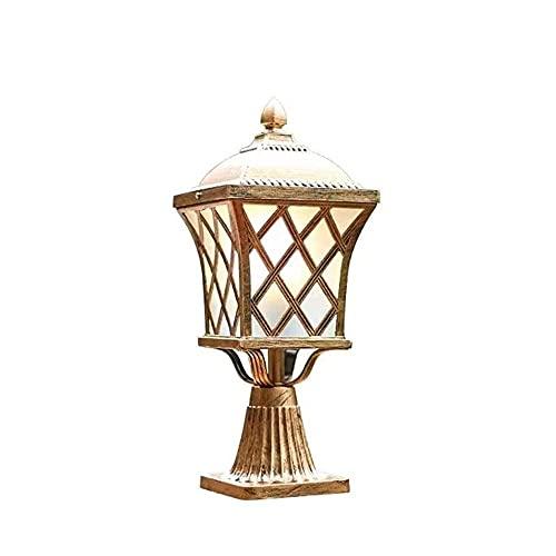 Luz de Montaje al Aire Libre, E27 Lámpara de Poste de Pilar al Aire Libre Impermeable Jardín Villa Patio Pasarela Iluminación Valla Cubierta Paisaje Mesa Accesorio de iluminación Linterna de luz de