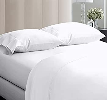 5-Star Hotel Quality 600 Thread Count 100% Cotton Sheets for Queen Size Bed Soft Crisp & Smoother Than Egyptian Cotton White Sheets