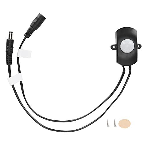 Interruptor de detección PIR con sensor de cuerpo infrarrojo EVTSCAN DC 12V para gabinete, baño, pasillo PIR1260