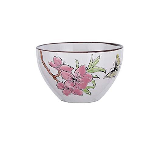 Keramische kom keramische kom familie fruit salade schotel retro rijst pap lade dieet gebruiksvoorwerpen servies vlinder liefde bloem 12x6,4 cm