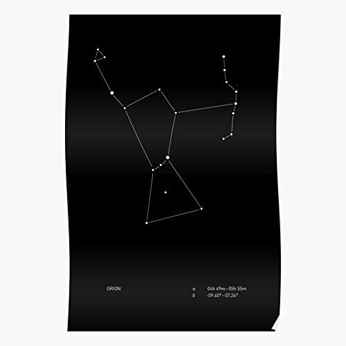 marbeian Star Coordinates Orion Chart Space Astronomy Map Pattern Constellation Das eindrucksvollste und stilvollste Poster für Innendekoration, das derzeit erhältlich ist