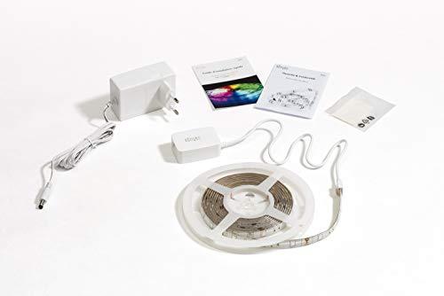 Konyks Dallas, Lot de 2 Rubans LED connectés Wi-Fi, 16 millions de couleurs, Longueur 3M, compatible avec Alexa et Google...