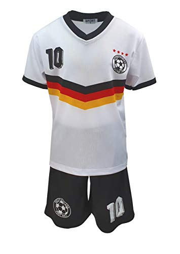 Fashion Boy Fussball Fan Set Deutschland Germany Trikot + Shorts, Gr. 98, JS112.2