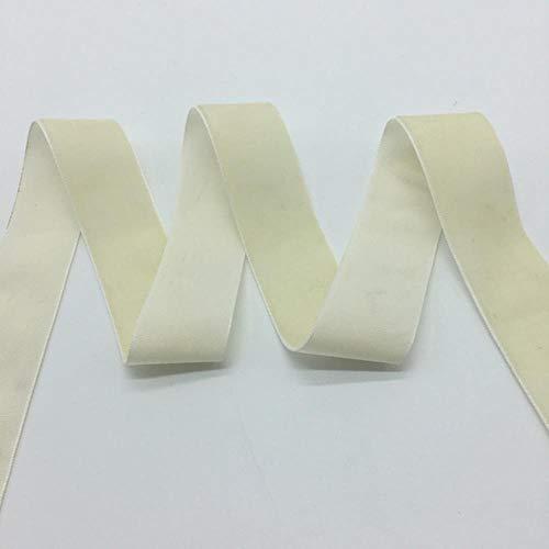 3 yardas/lote 1'(25 mm) de ancho Velvet Ribbon Headband Clips Arco Decoración de la boda Elija colores, crema