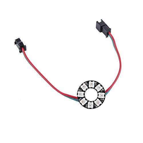 Stemedu 8 LEDs WS2812B Pixel Ring (8 bits) Full Magic Color Addressable RGB LED Light Circle with Integrated Driver 5V DC