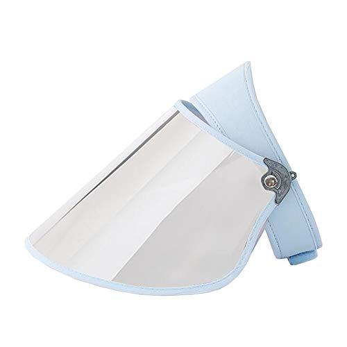 ZX-cappello Da Sole Donna Cappello A Cilindro Vuoto Cappello Visiera Angolo Regolabile Ampia Brim Protezione UV 50-59cm (Colore : Azzurro, Dimensioni : Silver Lens)