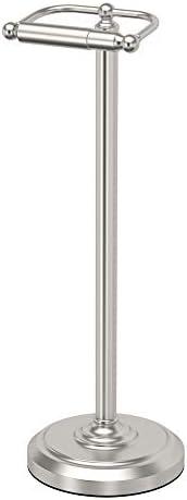 Gatco 1436MX Free Standing Freestanding Toilet Paper Holder, Matte Black
