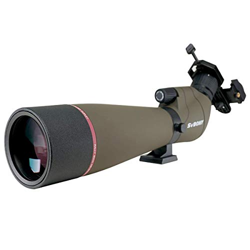 SVBONY SV13 Spotting Scopes 20-60x80 with Phone Adapter for Target Shooting, HD...