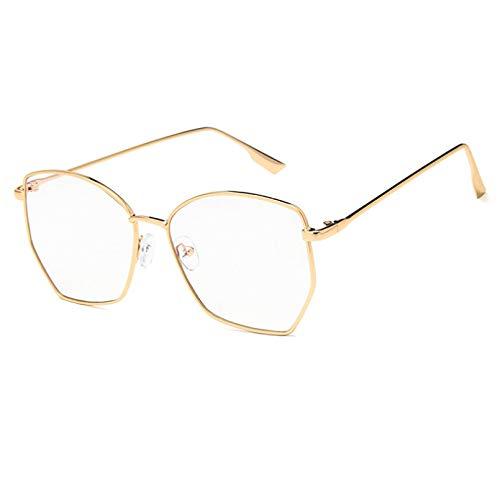 YTYASO Gafas de Sol cuadradas de Gran tamaño para Mujeres y Hombres, Gafas de Sol con Degradado Rosa, Gafas de Lentes Transparentes UV400