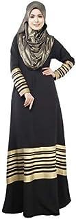 Women Muslim Robes One-Piece Dress Abaya Black Gdjj1-1