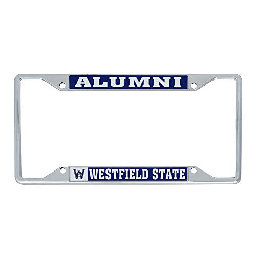 Desert Cactus Westfield State University WSU Owls NCAA Metal License Plate Frame for Front or Back of Car Officially Licensed (Alumni)
