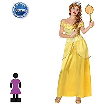 Atosa-28906 Disfraz Princesa De Cuento, color amarillo, M-L (28906 ...