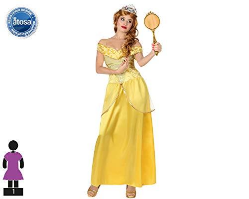 Atosa-28906 Disfraz Princesa De Cuento, color amarillo, M-L (28906)