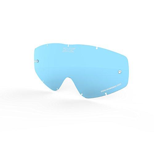 EKS BRAND Unisex-Adult Single Pane GOX MX Motorcross Goggle Replacement Lens (Blue, One Size)