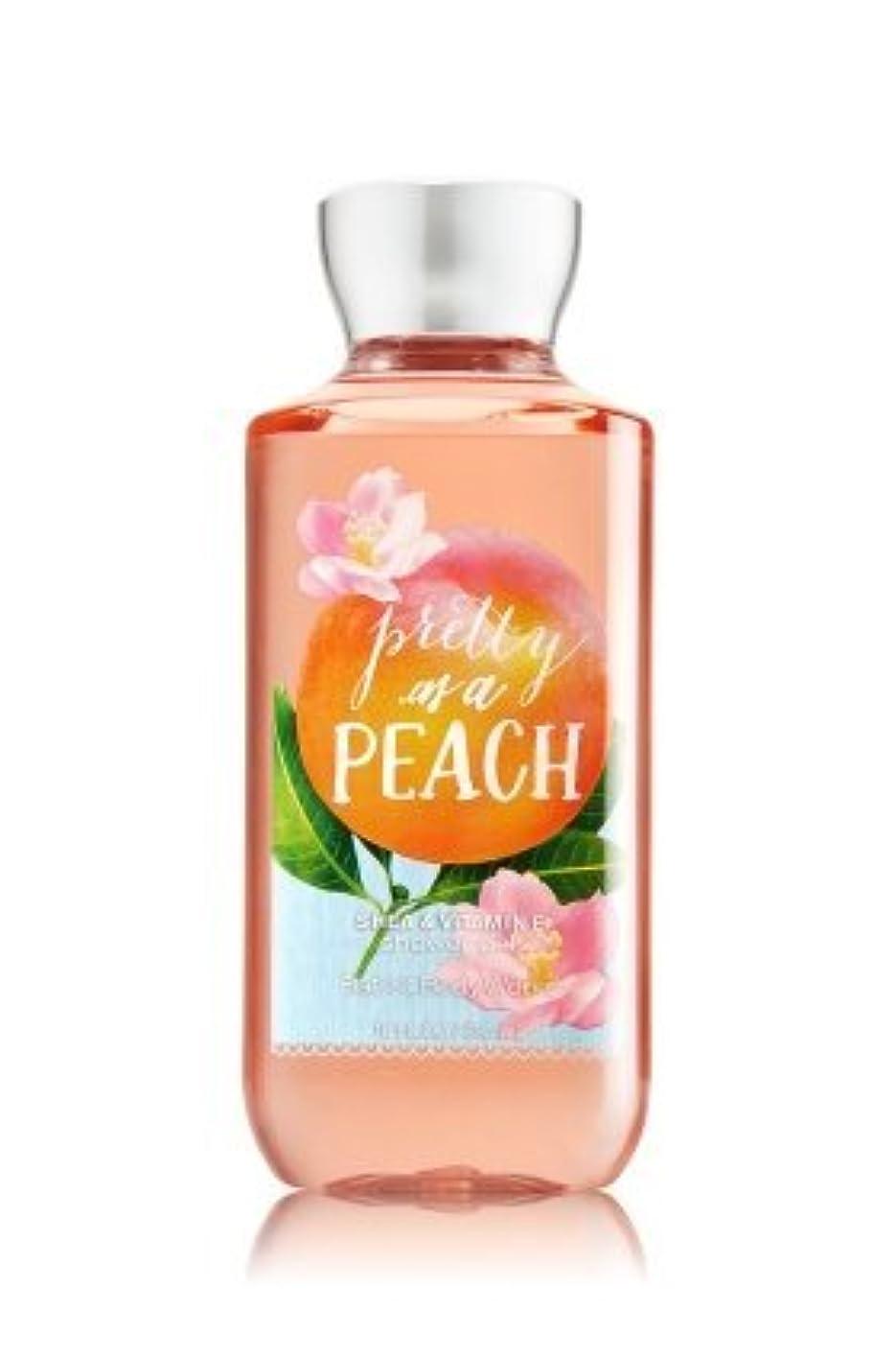 反映する祝福フック【Bath&Body Works/バス&ボディワークス】 シャワージェル プリティーアズアピーチ Shower Gel Pretty as a Peach 10 fl oz / 295 mL [並行輸入品]
