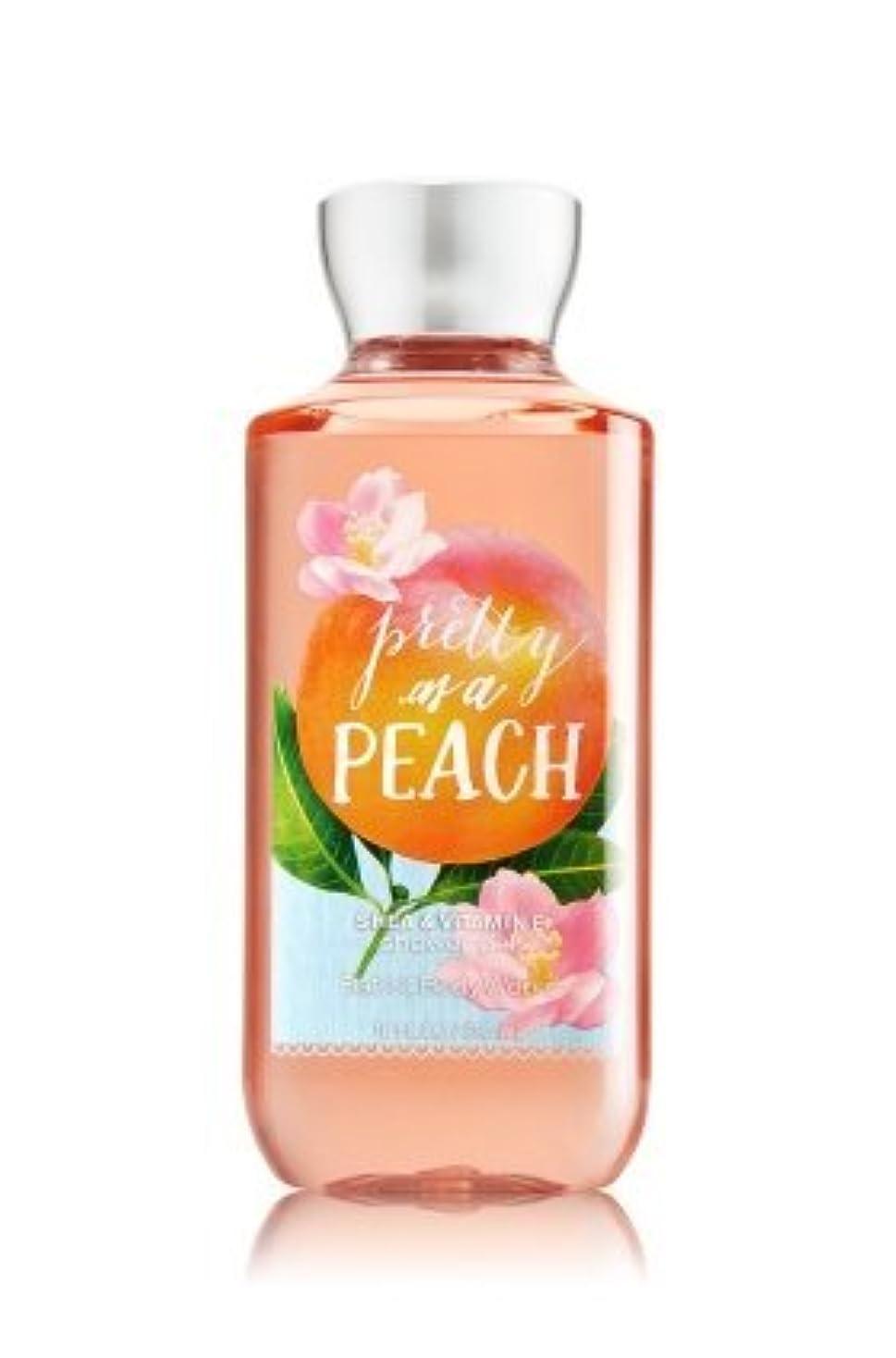 治療有害な証明書【Bath&Body Works/バス&ボディワークス】 シャワージェル プリティーアズアピーチ Shower Gel Pretty as a Peach 10 fl oz / 295 mL [並行輸入品]