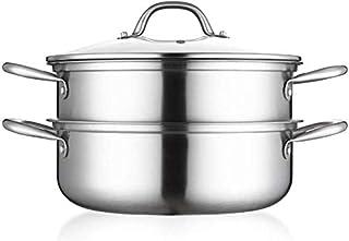 XIN Cocina Olla Vapor Vaporera Doble Capa de Vapor Conjunto de la Cacerola for cocinar la Vapores Pot Placa de inducción de Gas Universal Stock Pot 28cm