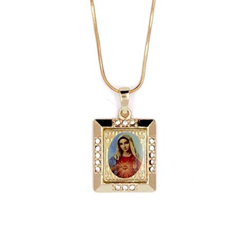 Bolboreta Valente Bautizo - Collar - Virgen María - Redondo - Oro...