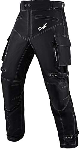 Motorcycle Pants for Men Dualsport Motocross Motorbike Pant Riding Overpants Enduro Adventure Touring Waterproof CE Armored All-Weather (Waist42''-44'' Inseam32'') Black