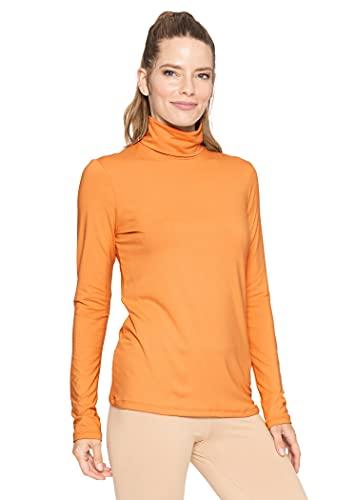Women's Ultra Oh So Soft Long Sleeve Turtleneck Top Orange Large