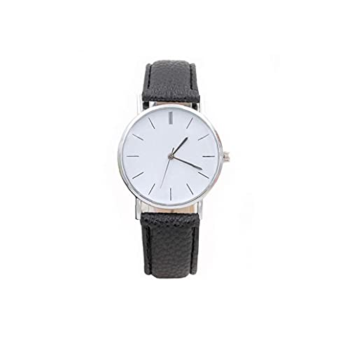Liadance Women Ginebra Diamond Relojes Analógica Reloj de Moda Impermeable con Brazalete de Cuero Reloj de Pulsera de diseño Retro (Negro)