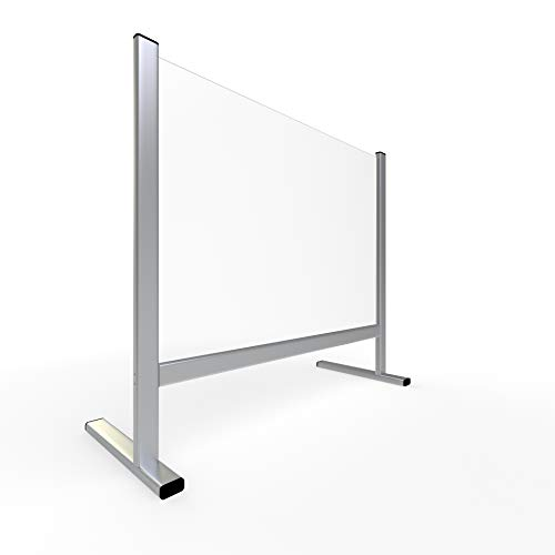 ALLboards Spuckschutz 100x65cm, Plexiglas 3mm, Antibakteriell & Virenschutz, Hygieneschutz, Hustenschutz Acrylglas