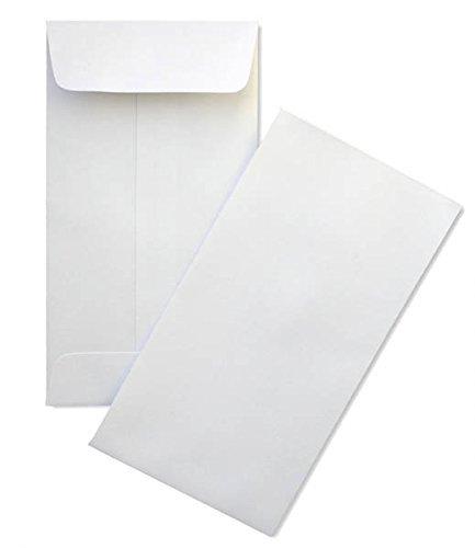 Minas Envelope Coin / Cash / Small Parts #7 White Envelopes, 3-1/2' X 6-1/2', 24lb, 500/box MC725NW