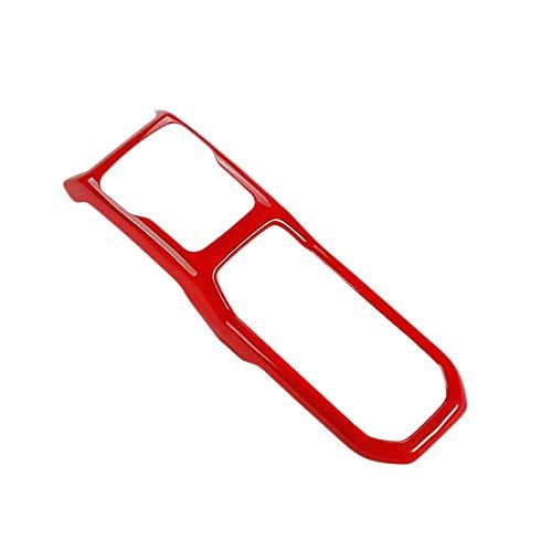 Gaoominy Panel de Cambio de Marchas Cubierta de la Consola del Centro de Control de la moldura para 2018-2019 JL JLU & 2020 Gladiator Accesorios para automóvil Rojo