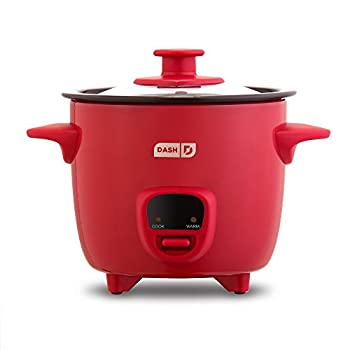 Dash DRCM200GBRD04 Mini Rice Cooker Steamer with Removable Nonstick Pot Keep Warm Function & Recipe Guide Red