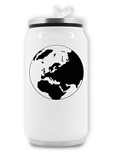 RaMedia Zwart fragiele Planet Aarde Globe Artwork Top Thermische Drank Kan