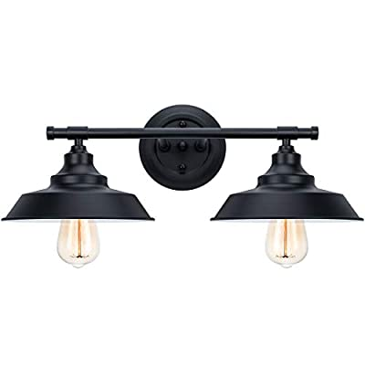 2?Light Bathroom Vanity Light Wall Sconce Industrial Kitchen Wall Lighting Oil Rubbed Black Baking Paint Finish