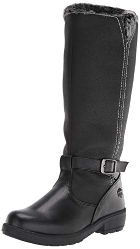 Totes Women's Esther Knee High Snow Boot, Available in Medium and Wide Width and Calf, Black, 7.5