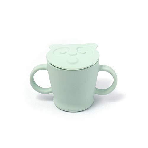 Yu-Niyut 140ml / 5 oz Tazas para niños pequeños BPA-Free Silicone Learning Cups Lavavajillas Safe Fugas Fugas con tapa y tazas para bebés antideslizantes Ajuste para 4+ meses de taza de bebé