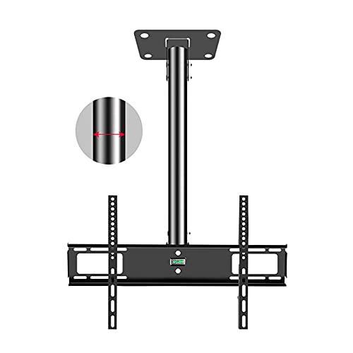 CCBBA Soporte De Techo Giratorio De Inclinación Ajustable para TV, Rotación De 45 ° A La Izquierda Y A La Derecha, Se Adapta A Televisores De 32-70 Pulgadas, Se Puede Montar En Techos/Paredes