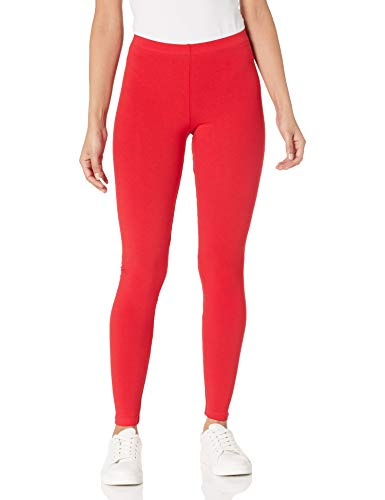 American Apparel Damen Cotton Spandex Jersey Leggings, Rot, X-Klein