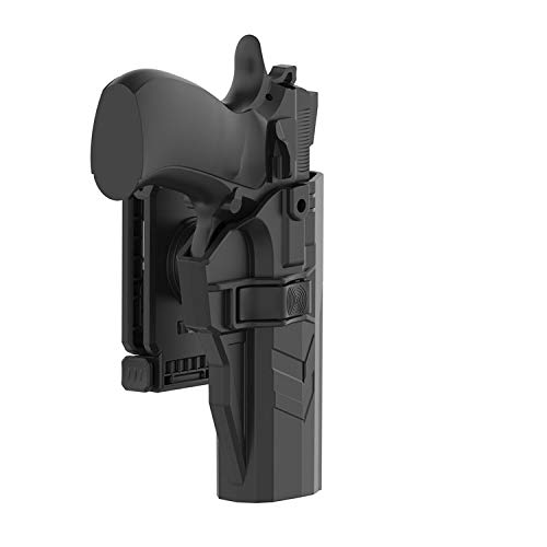HQDA CZ 75 SP-01 Shadow Holster with 360Adjustable Cant Tactical Outside Waistband Polymer Paddle Holder CZ SP01 Pistol Carry OWB Holster, Handgun Duty Belt Case Right Handed