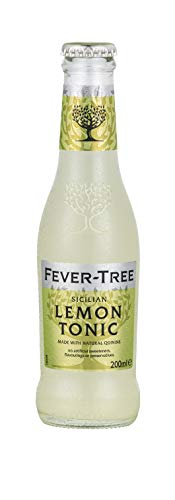 Fever-Tree Lemon Tonic Water 4 x 200 ml (Pack of 6, Total 24 Bottles)